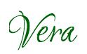 Vera's Signature